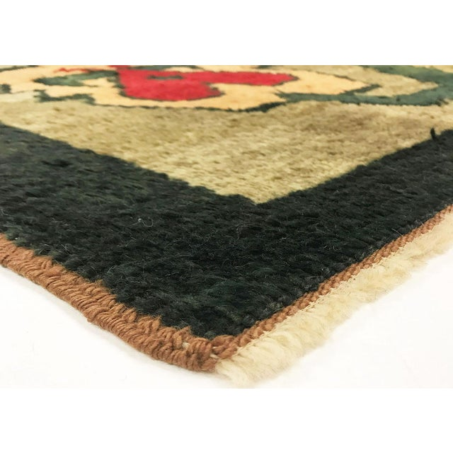 Vintage Hand Woven Turkish Tulu with curly hair of Angora goats on a wool kilim like carpet. These tribal style Tulus were...