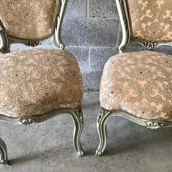 1900s Vintage Louis XVI Chairs- A Pair For Sale In Miami - Image 6 of 11
