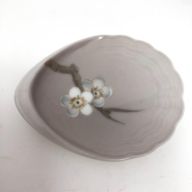 Bing & Grondahl Denmark Porcelain Ashtray and Cigarette Holder With Blossom on Branch - a Pair For Sale In Boston - Image 6 of 13