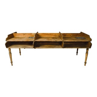 Six Bin German Cigar Rolling Factory Table For Sale
