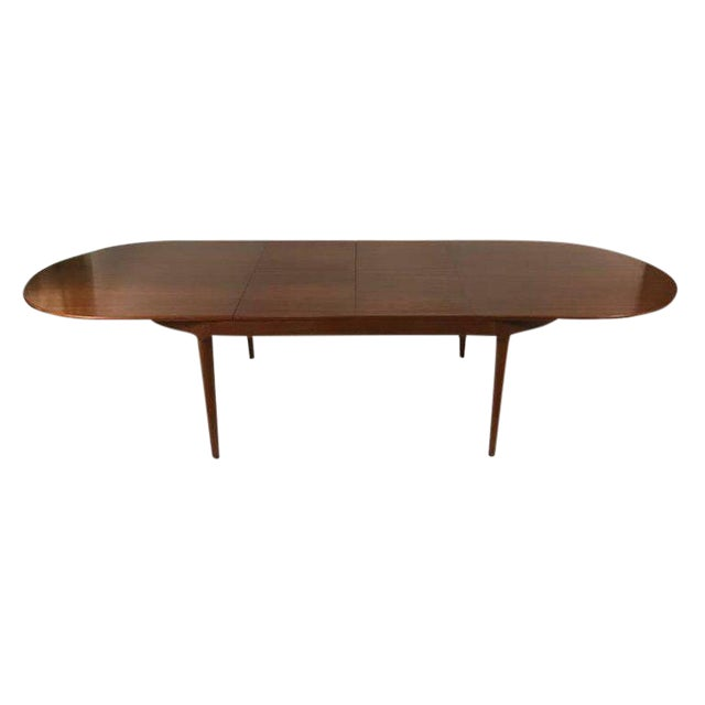 Superb Arne HovmandOlsen For Mogens Kold Danish Modern Teak - Teak oval extension dining table