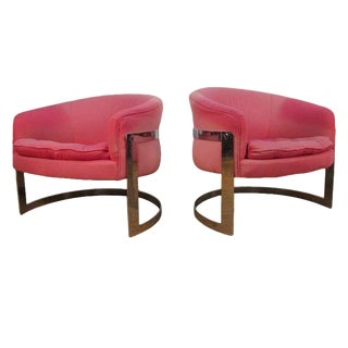 Pair Milo Baughman Chairs For Sale
