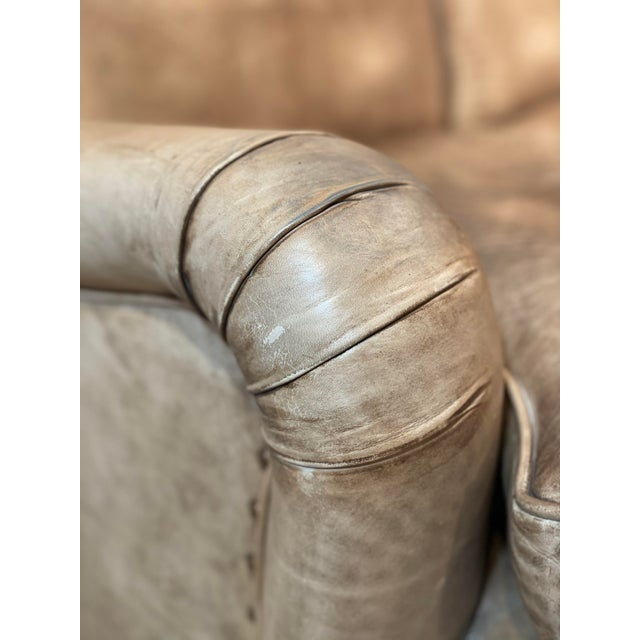 Late 20th Century George Smith Leather Sofa For Sale - Image 5 of 12