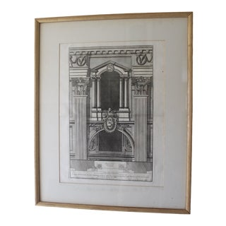 Early 19th Century Antique Prospetto Del Finestreno Architectural Print For Sale