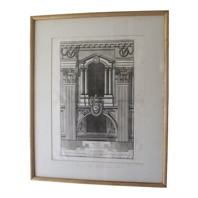 Early 19th Century Antique Prospetto Del Finestreno Architectural Print For Sale