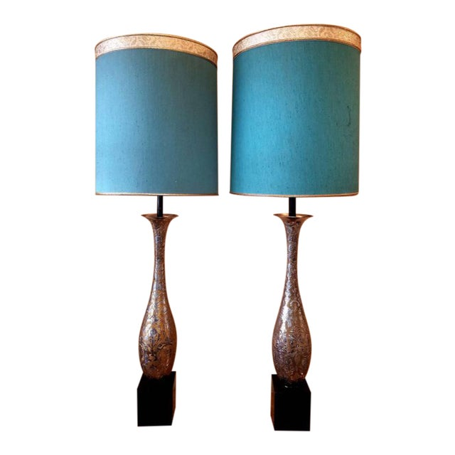 Mid Century Anglo Indian Table Lamps A Pair Chairish