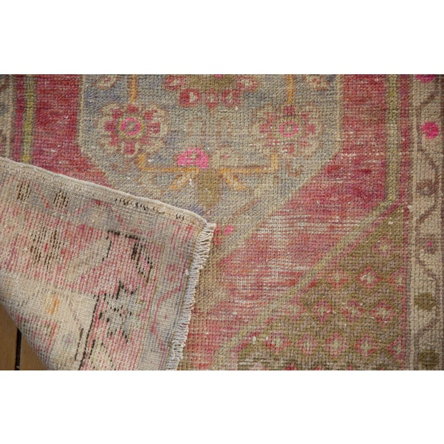 "Pink Vintage Distressed Oushak Rug - 2'9"" X 3'11"" For Sale - Image 8 of 9"