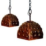 Image of Industrial Metal Pendants - Pair For Sale