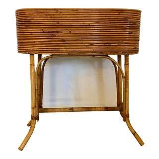 Oval Bamboo Planter on Legs For Sale