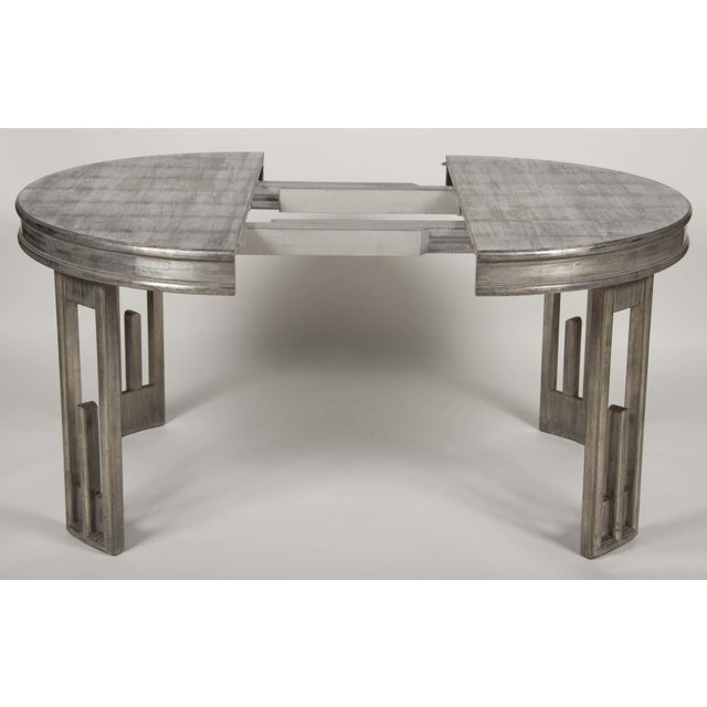 James Mont Silver Leaf Dining Table by James Mont For Sale - Image 4 of 13