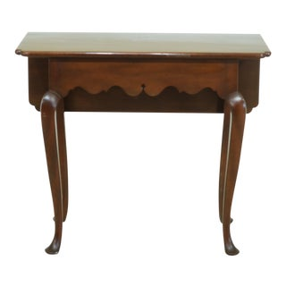 Kittinger Wa-1020 Colonial Williamsburg Mahogany Drop Side Table For Sale