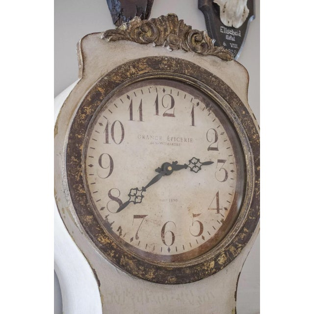 Gustavian (Swedish) Reproduction Swedish Mora Clock For Sale - Image 3 of 5