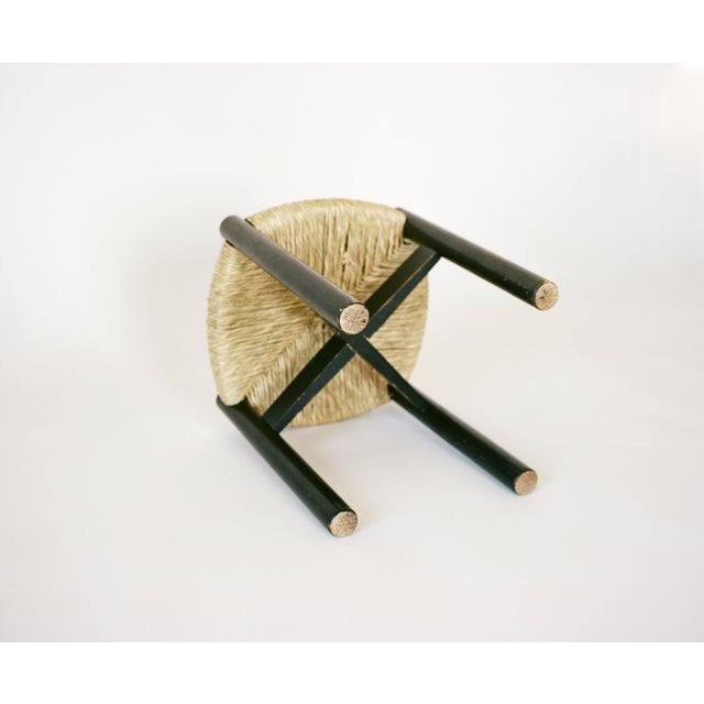 Oak Charlotte Perriand Set of Four Stools C. 1948 For Sale - Image 7 of 8