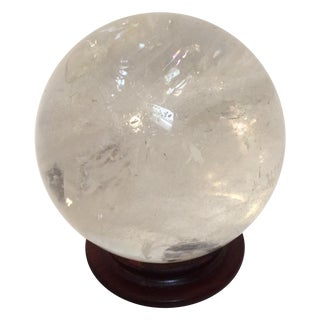Large Quartz Crystal Ball
