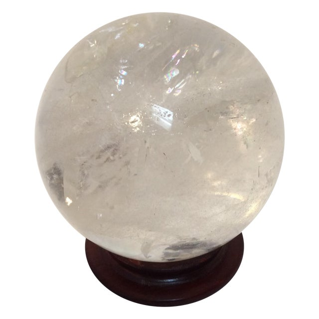 Large Quartz Crystal Ball - Image 1 of 9