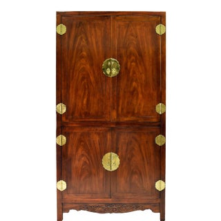 1970s Chinoiserie 4 Door Armoire by Henredon For Sale