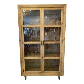 Wooden Duck Distressed + Reclaimed Pine Display Cabinet For Sale