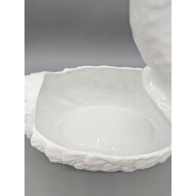 Large 1960's Italian Ceramic Swan Tureen For Sale In Houston - Image 6 of 7