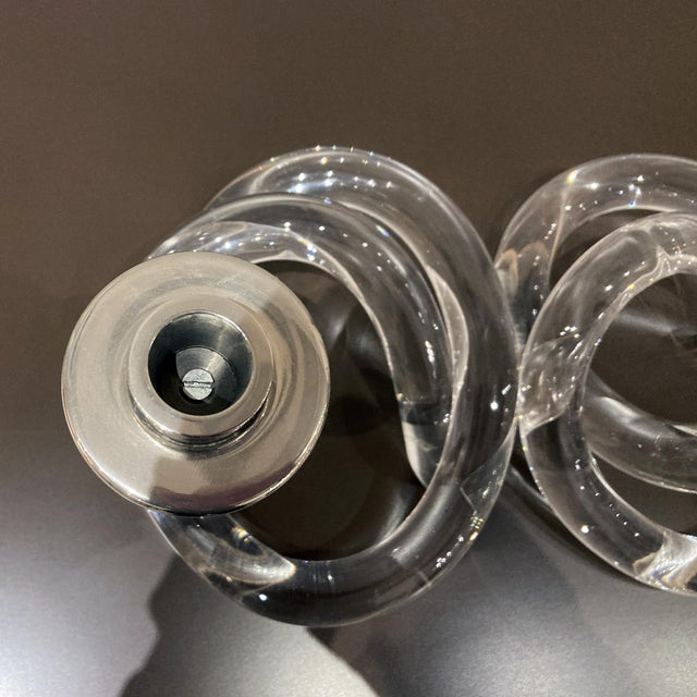 Transparent Dorothy Thorpe Lucite Vintage Candlesticks - a Pair For Sale - Image 8 of 10