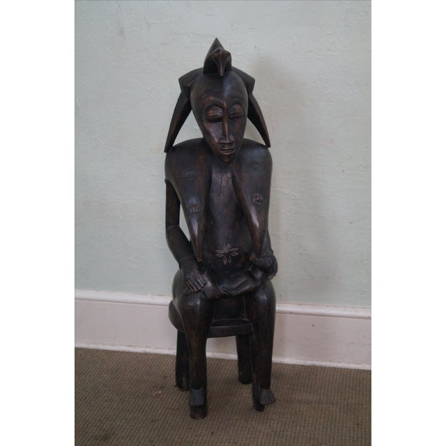 Hand Carved Tribal African Fertility Statue - Image 2 of 10