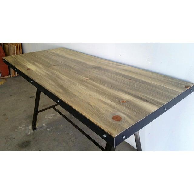 Vintage Industrial Reclaimed Table - Image 5 of 7