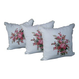 Ralph Lauren Linen Pillows - Set of 3 For Sale