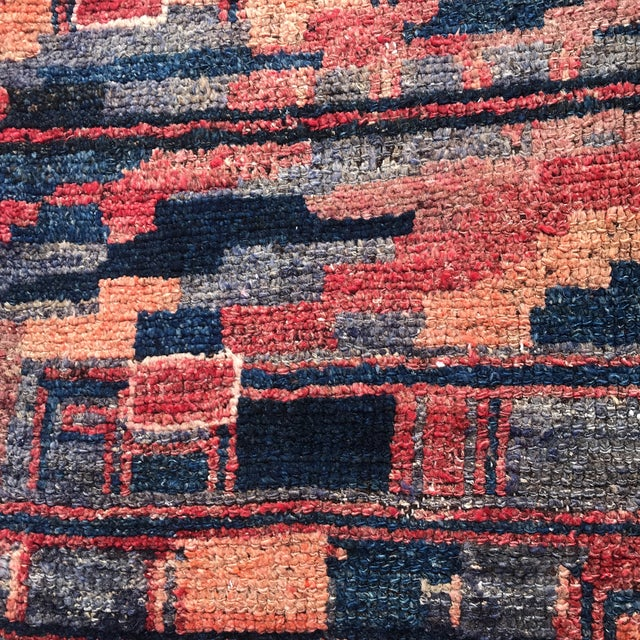 """Vintage Unique Persian Patterned Wool Rug 4'3"""" X 5'10"""" For Sale - Image 12 of 13"""