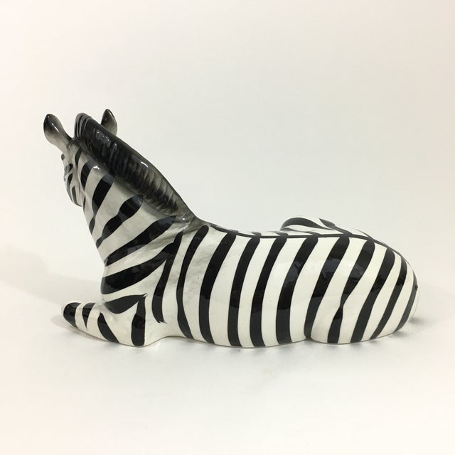 Fitz and Floyd Zebra Ceramic Figure Statue For Sale - Image 4 of 10