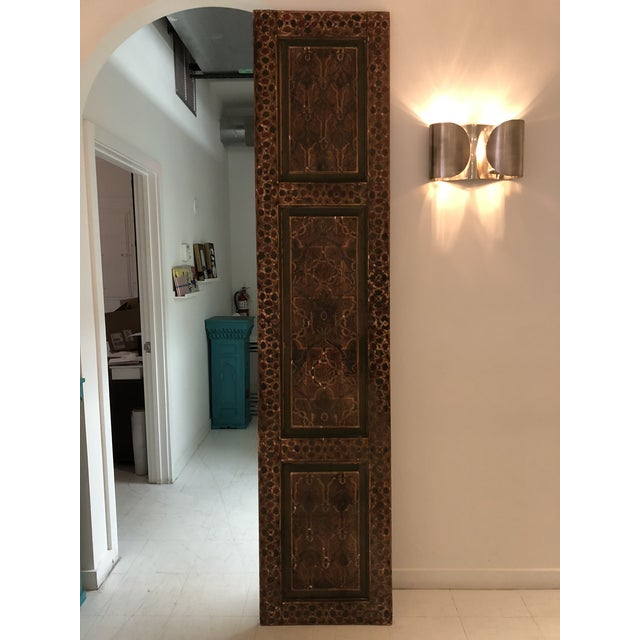 Boho Chic Moroccan Geometric Pattern Single Panel For Sale - Image 3 of 11