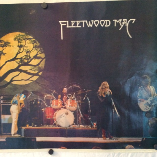 Paper Vintage Fleetwood Mac Poster 1977 Germany Tour For Sale - Image 7 of 11