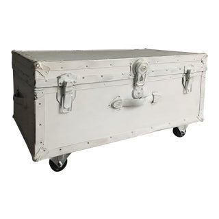 Vintage Trunk Table With Caster Wheels