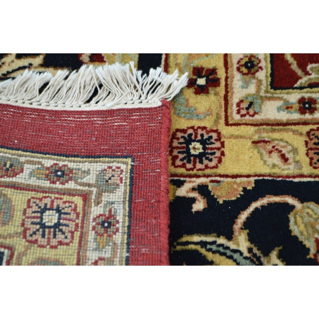 Black Isfahan 12x16 Hand Knotted Persian Rug For Sale - Image 8 of 10