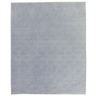 Witney Ivory/Gray Flatweave Wool/Silk Area Rug - 10'x14' For Sale