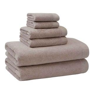 Luca Frame Bath Towel in Oatmeal For Sale