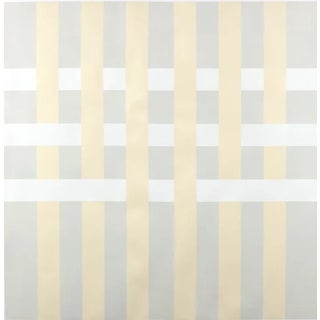 """Lucas Kelly """"Wop27"""" Abstract Light Yellow Grey Painting on Paper For Sale"""