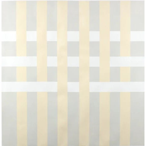 "Lucas Kelly ""Wop27"" Abstract Light Yellow Grey Painting on Paper For Sale"