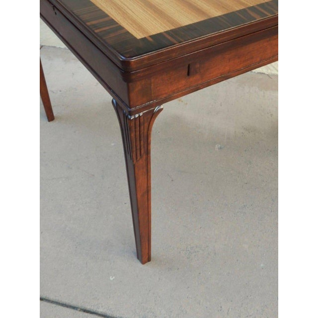 1930s Art Deco Eric Chambert Extendible Side Table For Sale - Image 4 of 6
