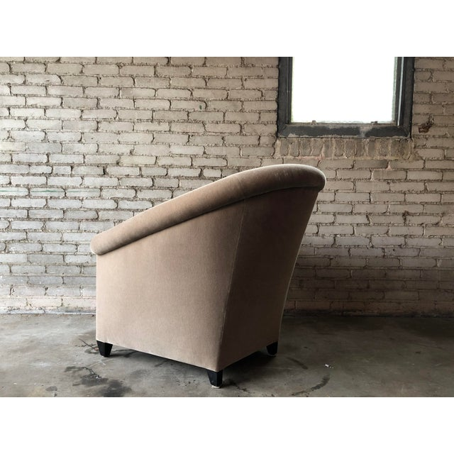 Minotti Mohair Lounge Chair and Ottoman For Sale - Image 9 of 12