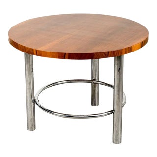 Mucke Melder for Thonet Art Deco Walnut Coffee Table, Czechoslovakia, 1930s For Sale