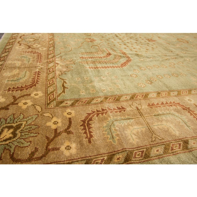 """What Makes Turkish Rugs Great How You Can Read The Design Of A Turkish Rug: Modern Turkish Oushak Rug - 9'10"""" X 14'"""