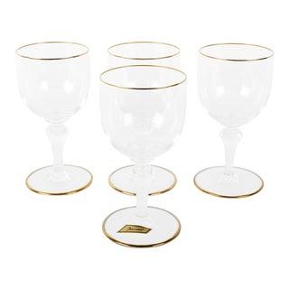 Vintage Set Four Baccarat Crystal Wine Glasses