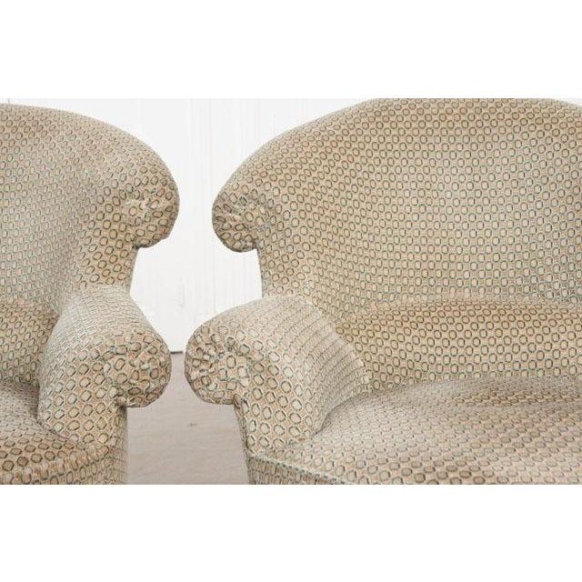 English Traditional Pair of 19th Century English Upholstered Tub Chairs For Sale - Image 3 of 13
