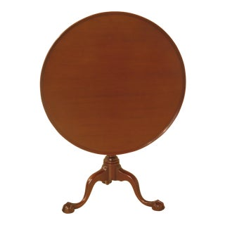 Kittinger Cw-70 Colonial Williamsburg Mahogany Clawfoot Tilt Top Table For Sale