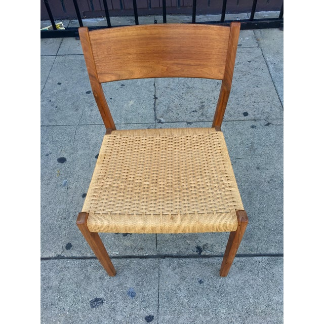 Danish Modern Teak and Rope Chairs - Set of 4 - Image 5 of 9