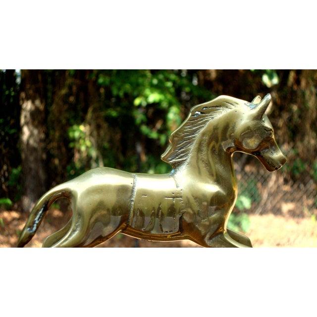 Hollywood Regency Mid-Century Brass Rocking Horse - Image 11 of 11