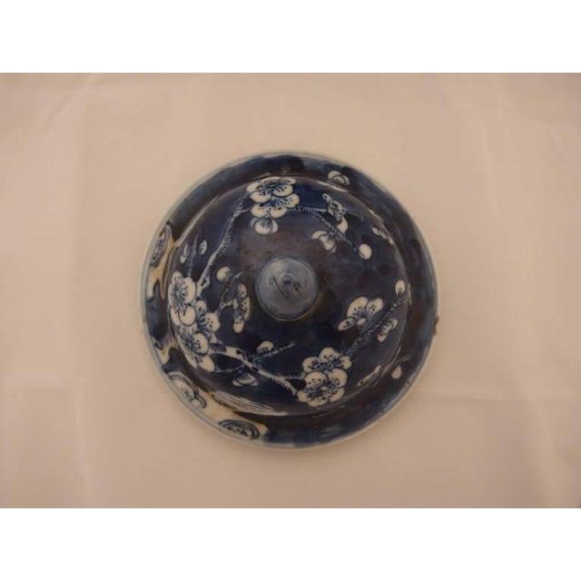 Ceramic Pair of Blue Porcelain Vases For Sale - Image 7 of 8