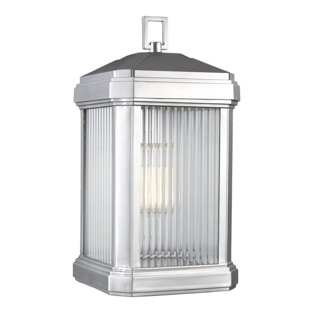 Roslin Large One Light Outdoor Wall Lantern, Silver For Sale