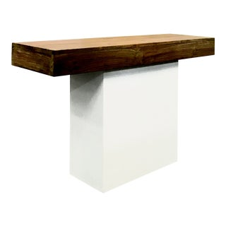 Sumatra Outdoor Console Table, White For Sale