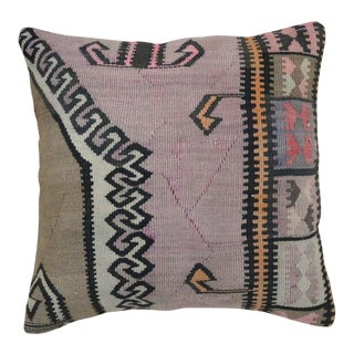 1960s Vintage Turkish Tribal Star Pillow For Sale