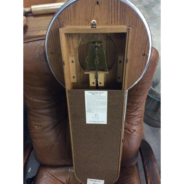 Rare Arthur Umanoff Howard Miller Key Wind Pendulum Clock For Sale - Image 5 of 11